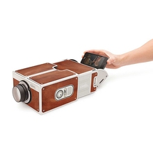 2016 Hot sale Mini Overhead Projector Toy Gift Portable DIY 1400 Lumen 640x480dpi Cardboard Smart Phone Projector Family Cinema