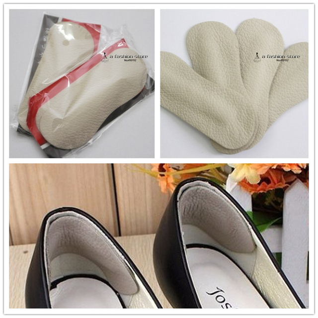 4 piezas zapatos de tacón alto de cuero cojín Protector plantillas de revestimiento tacones cuidado de los pies X-13009