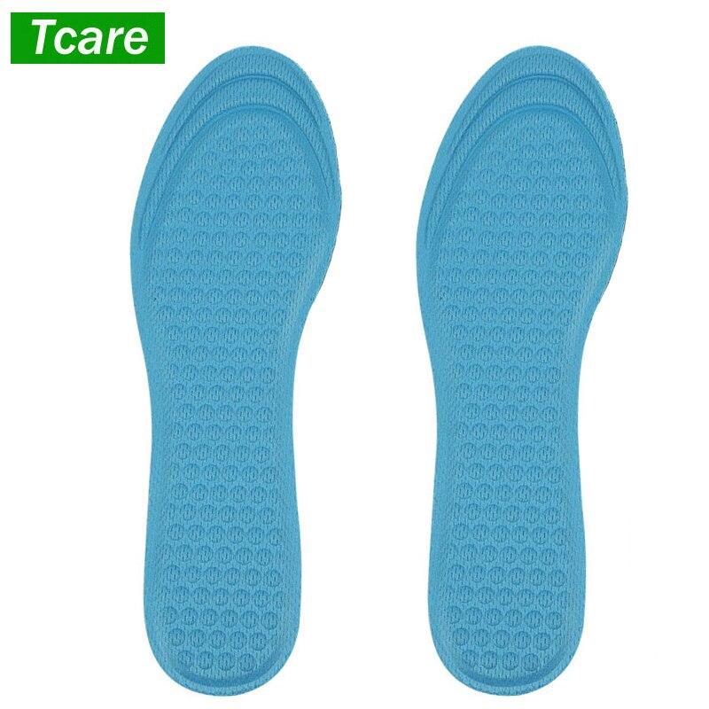 Blue Gel Honeycomb Massage Insoles Shoe Insert Shock Absorbing Pad