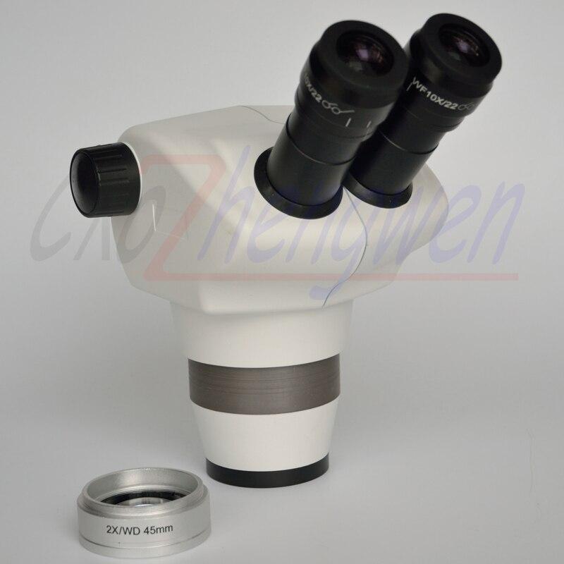 Científica 8x-100x Cabeça Binocular Zoom microscópio estéreo para a Eletrônica + 2X lente