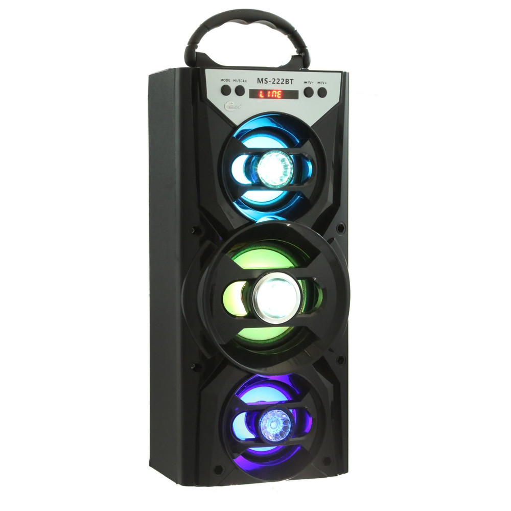 Original Loudspeaker MS - 222BT Portable Bluetooth Speaker FM Radio AUX USB TF Card portable speaker Portable Stereo senz