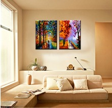 Vintage abstract famous colorful artwork canvas prints picture modern wall art picture Knife painting for living room decoration