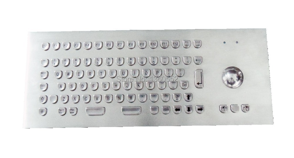 Metal Keyboard Generic Panel-Mount Stainless with Compact Full-Layout And Funcition-Keys