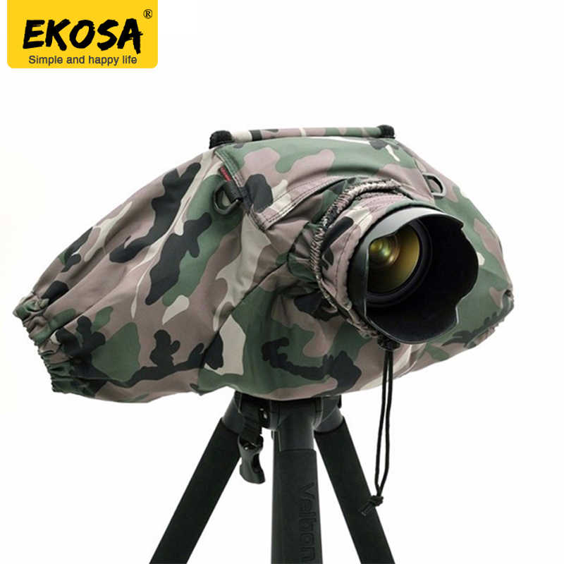 Ekosa Professional Camera Rain Covers Coat Bag Protector Rainproof Waterproof Against Dust for Canon Nikon Pendax Sony DSLR SLR