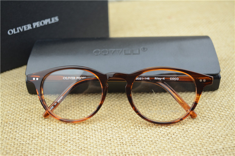 14719563a19d9 Famous Brand Oliver Peoples Riley K Vintage Myopia Glasses frame Men and Women  Retro elegant Eyeglasses Fashion Eye Glasses on Aliexpress.com
