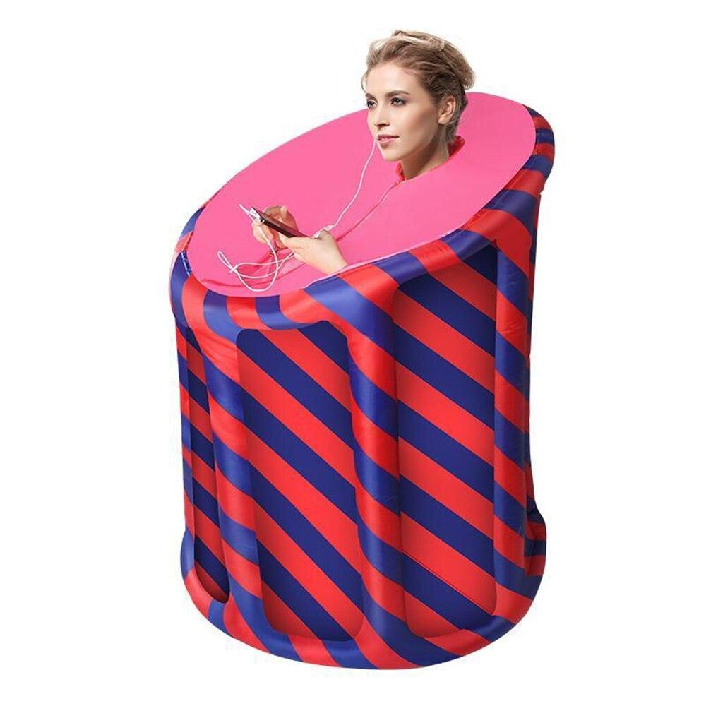 Gonflable Sauna SPA 4L 2000 W UE Ou ROYAUME-UNI Plug Sauna à vapeur portable bain de vapeur Perdre Du Poids Désintoxication Thérapie À Vapeur Pli Sauna Cabine