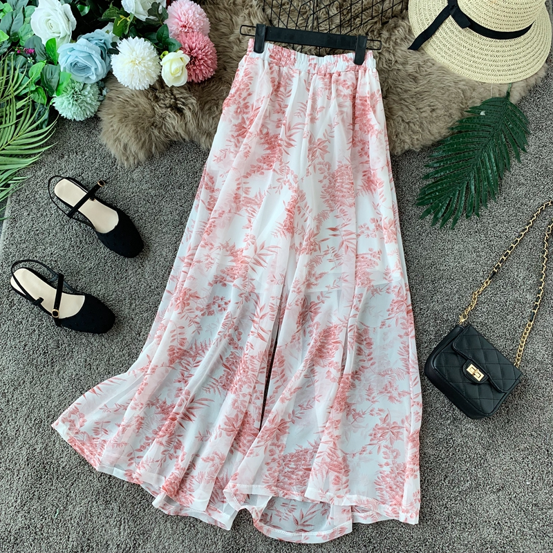 Women Summer Clothes Fashion 2019 New Wide-leg Printing Pants