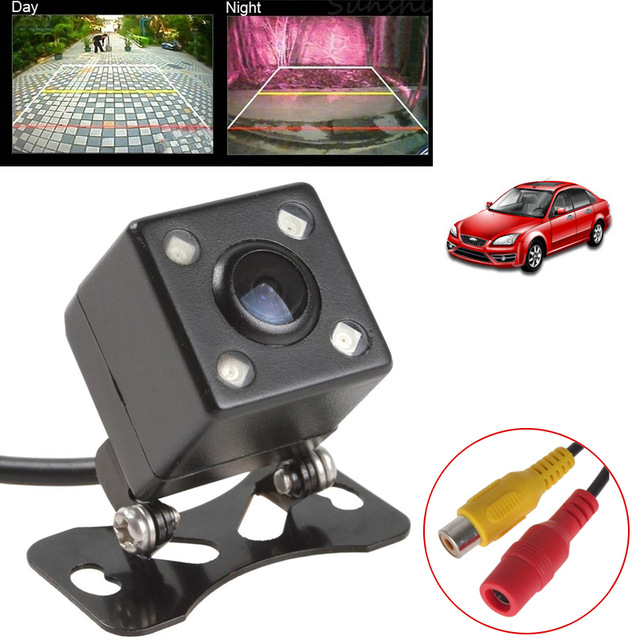Universal Car Rear View Camera 4 LED Car Reverse Camera RCA Parking Assistance