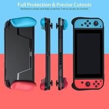 Estuche portátil para Nintendo Switch, funda suave de TPU con carcasa de agarre ergonómica para Nintendo Switch