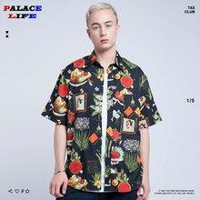Уличный с короткими рукавами рубашки для мужчин Harajuku 3D печатных Гавайские летние пляжные свободные цветы винтажные рубашки мужские рубашки