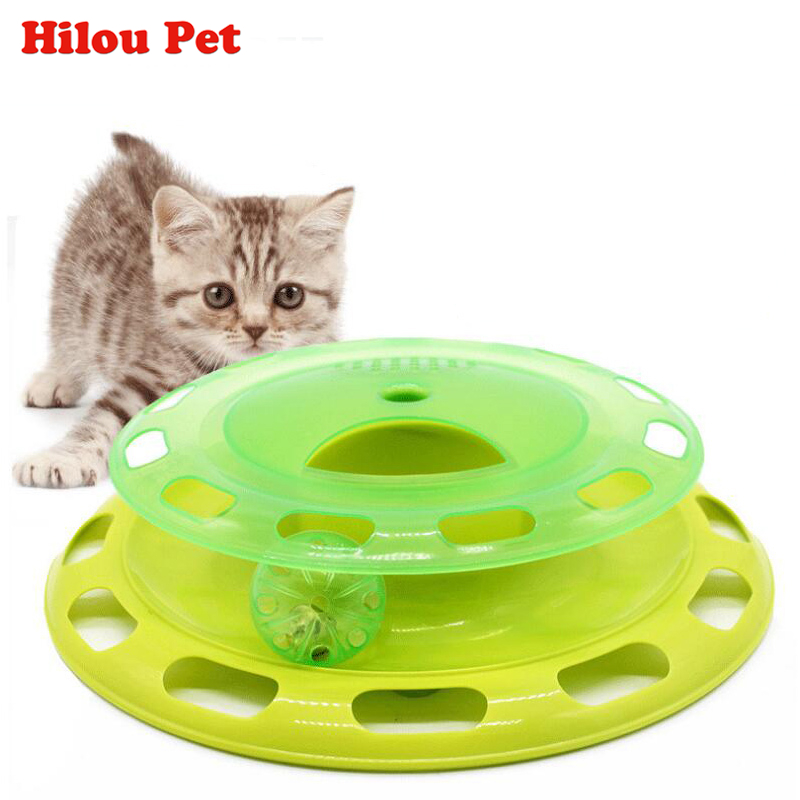 Funny Pet Toys Cat Crazy Ball Disk Interactive Amusement Plate Play and Feeding Disc Detachable Cover Turntable Cat Toy