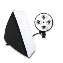 Sprzęt fotograficzny Photo Studio miękkie pudełko zestaw wideo czterokanałowy uchwyt lampy oświetlenie z 50x70cm Softbox budka foto