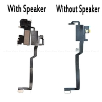 New Ear Earpiece Speaker With Light Sensor Flex Ribbon Cable For iPhone X Ten 10 Replacement Parts