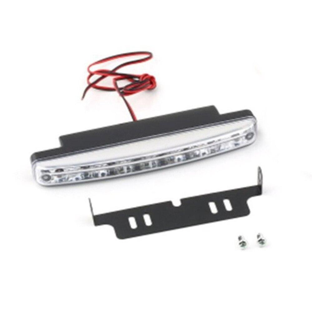 1PC Universal 12V 8LED Car Daytime Running Light Fog Lamp Car Driving Light Super Bright White Light Auxiliary Lamp