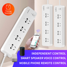 цена на Broadlink MP1 WiFi Socket Smart Home Automation 4-Outlet Plug 3G 4G Wireless APP Android IOS Remote Control Separately 250V 10A