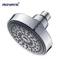 ROVATE Kleine Dusche Kopf 360 Grad Rotation Top Spray Regen dusche ABS Kunststoff Verchromt Wasser Saving Badezimmer Kopf Dusche
