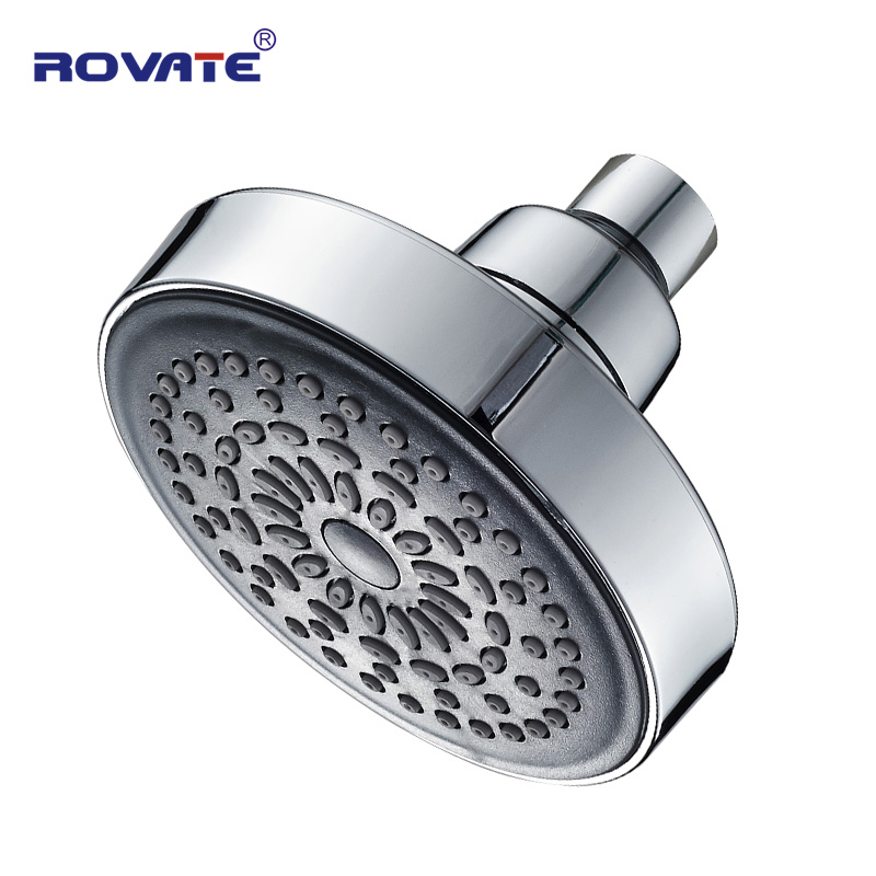 ROVATE Small Shower Head 360Degree Rotation Top Spray  Rain Shower ABS Plastic Chrome Finished Water Saving Bathroom Head Shower