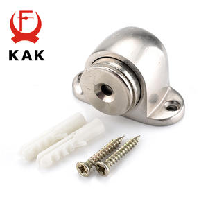 KAK 54mm * 35mm Zinc Alloy Door Stop Casting Powerful Floor-mounted Magnetic