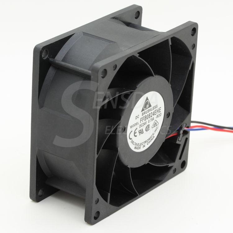 For Delta FFB0824EHE F00 8038 8cm 80mm DC 24V 0.75A 3-pin server inverter fan