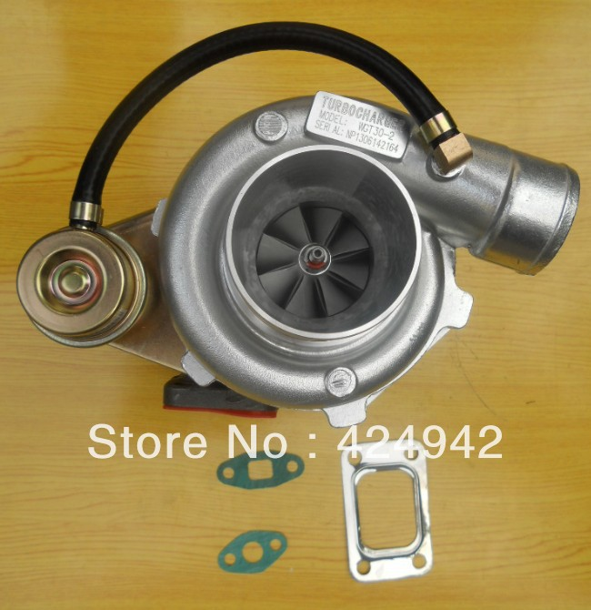 "NEW GT35 GT30 T3T4 T04E T3 Compressor a/r 0.60 Turbine a/r .48 2.5"" v-band journal  turbo turbocharger one year warranty"