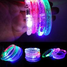 Лидер продаж Регулируемый поставки вспышки света светодио дный наручные часы браслет Дети игрушка в подарок забавные игрушки