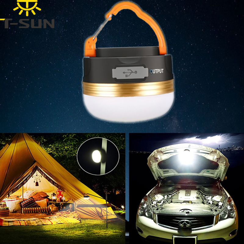 T-SUNRISE LED Camping Light Outdoor Lighting Rechargeable Light Portable Spotlight Warm White Hang Magnetic Lanterns to the tent