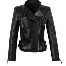 America new long-sleeved street woman jackets 100% genuine sheepskin leather jacket womens high quality coat S – 3XL