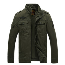 Military Jacket Airborne Flying Bomber Tactical Jacket Men Winter Style Windproof Outdoor Hiking Motorcycle Jacket