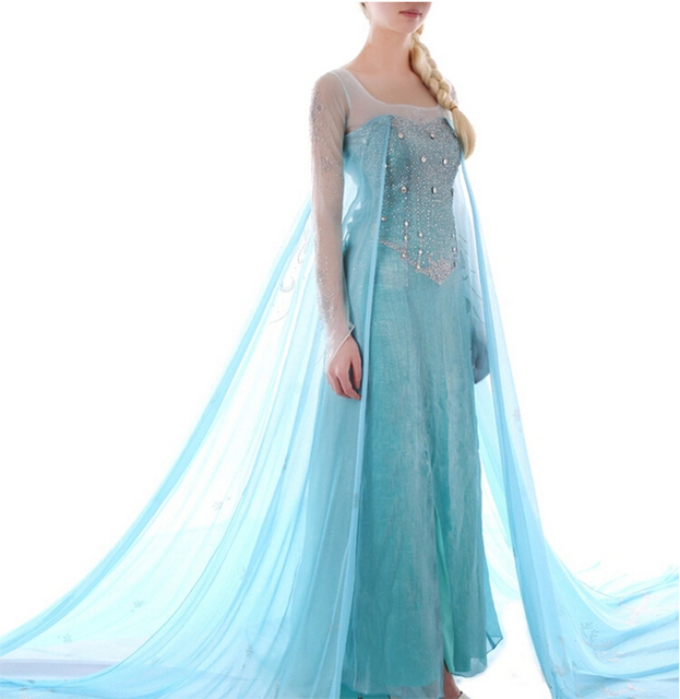 Vestido Elsa - Adult Princess Elsa Cosplay Costume Dress  sc 1 st  AliExpress.com & Vestido Elsa Adult Princess Elsa Cosplay Costume Dress on Aliexpress ...