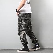High Street Fashion Men Casual Pants Camouflage Military Trousers Big Pocket Loose Cargo Hip Hop Joggers hombre