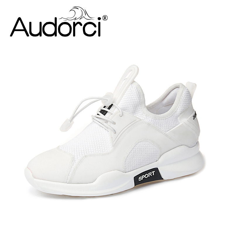 Audorci 2018 Spring Light Sneakers For Outdoor Comfortable Woman Shoe Women Sneakers Breathable Sport Size 35-40 peak sport men outdoor bas basketball shoes medium cut breathable comfortable revolve tech sneakers athletic training boots