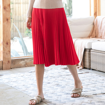 Plissée Couleur En Fois Miyake Vente Jupe Mode Pur bleu Noir rouge Élégance Chaude Mince Stock Plier qPzTwT41