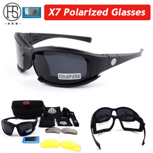 Hot Sale FS X7 C5 Polarized Military Sunglasses Airsoft Tactical Shooting Glasses UV400 Outdoor Sport Cycling