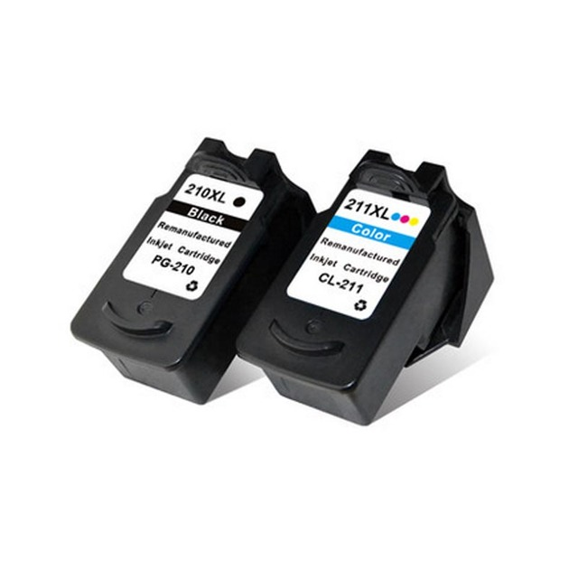 2PK Ink Cartridge For Canon PG 210 XL CL 211XL MP140 MP145 MP150 MX320