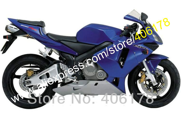 Hot Sales,2003 2004 CBR600RR Fairing Set For Honda CBR 600RR F5 CBR 600 03 04 Blue ABS Plastic Fairing Kits (Injection molding) hot sales for honda cbr600rr 2003 2004 cbr 600rr 03 04 f5 cbr 600 rr blue black motorcycle cowl fairing kit injection molding