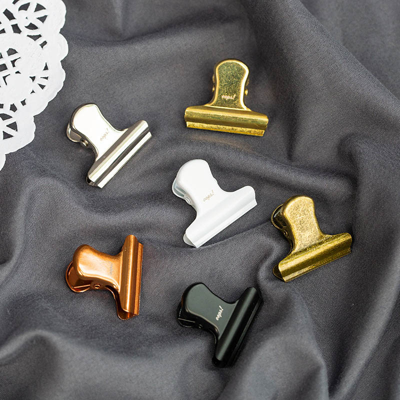 1PC Vintage Clips Mini Metal Clips Ticket Holder Retro Tail Clips For Kids Korean Stationery School Office Supplies