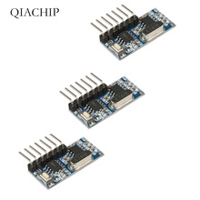QIACHIP3Pcs 433Mhz Wireless Remote Control Switch 4CH RF Relay EV1527 Encoding Learning Module For Light Relay Receiver Diy Kit цена