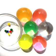 50pcs/lot Big Crystal Mud Hydrogel Gel Kids Toy Water Beads Growing Up Balls Wedding Home Flower Decoration Dia 5cm