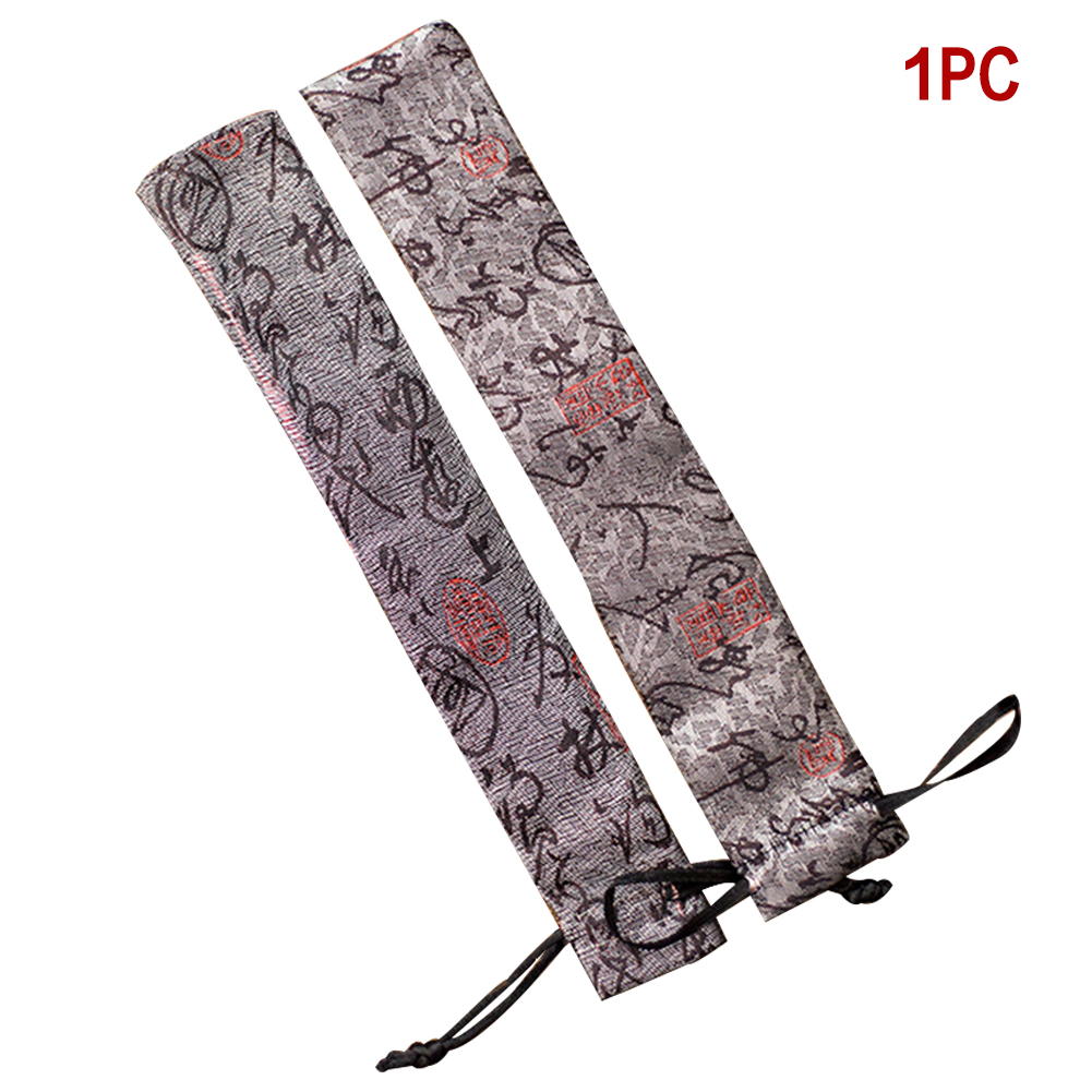 Cover  Chinese Style Decorative Folding Hand Fan Pouch High Quality Handicrafts Hand Fan Bag Polyester Fabric
