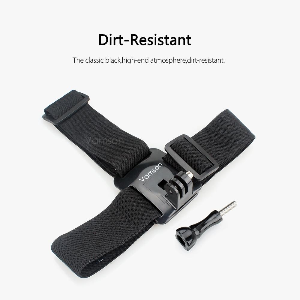 Vamson for Gopro 9 8 7 6 5 Accessories Head Belt Strap Mount Adjustable For Gopro Hero 6 5 4 3+2 1 for Yi 4K SJCAM VP202 2