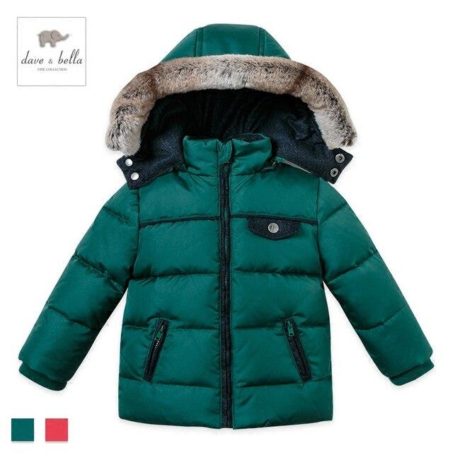 DB2086 davebella children down jacket detachable cap baby jacket