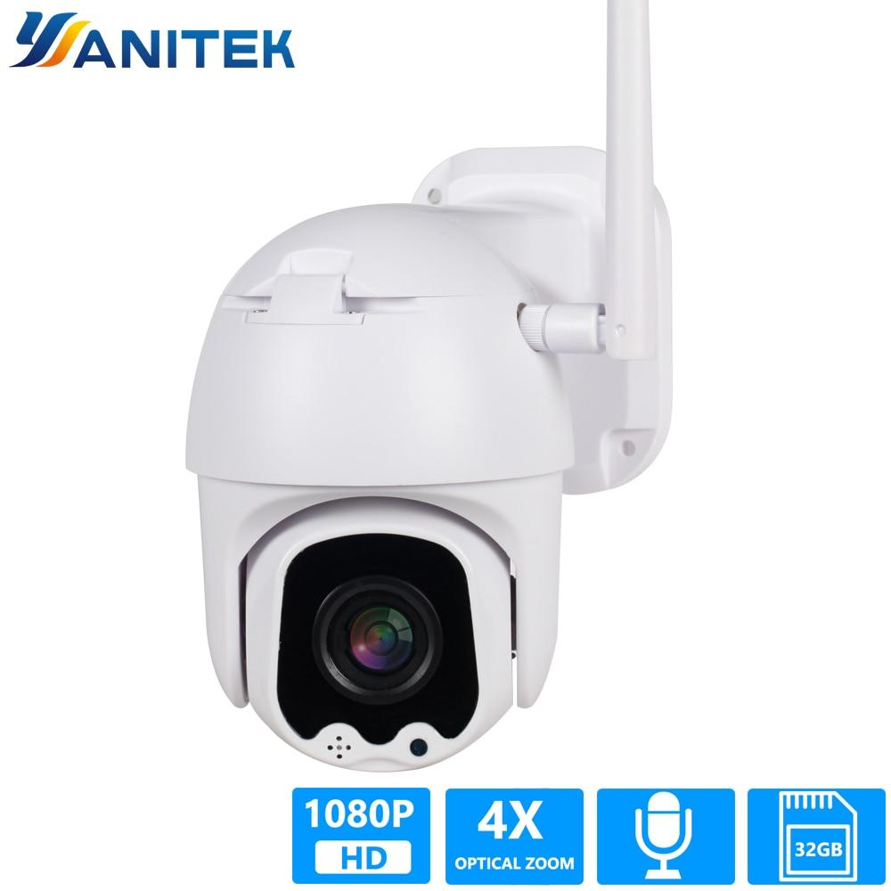 1080 P PTZ IP caméra Wifi vitesse extérieure dôme sans fil Wifi caméra de sécurité panoramique inclinaison 4X Zoom optique réseau CCTV Surveillance