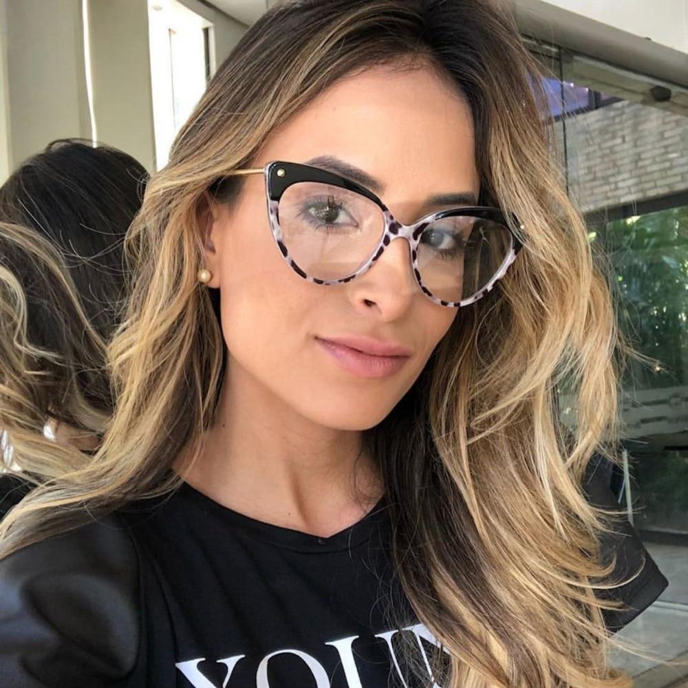 más fotos 046fa a1abf MADELINY 2018 nuevo ojo de gato mujeres gafas marco moda Vintage TR90 gafas  ópticas transparentes lentes opticos mujer MA319