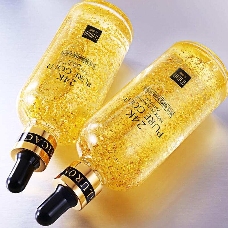 Сыворотка для лица, никотинамид, эссенция для лица, жидкость 24K, чистое золото, антивозрастной, увлажняющий, Освежающий уход за кожей
