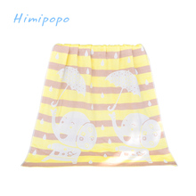 HIMIPOPO Baby Bedding Set Bath Towel Cotton Gauze Blanket Newborn Cartoon Kids Towel Absorbing Towels Soft Washcloth 140*70cm