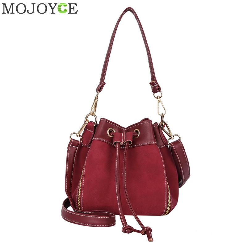 Mini Bucket Bag Women Shoulder Bag PU Leather String Messenger Bags Fashion Autumn Women Crossbody Bag Female Handbag Blosa Tote