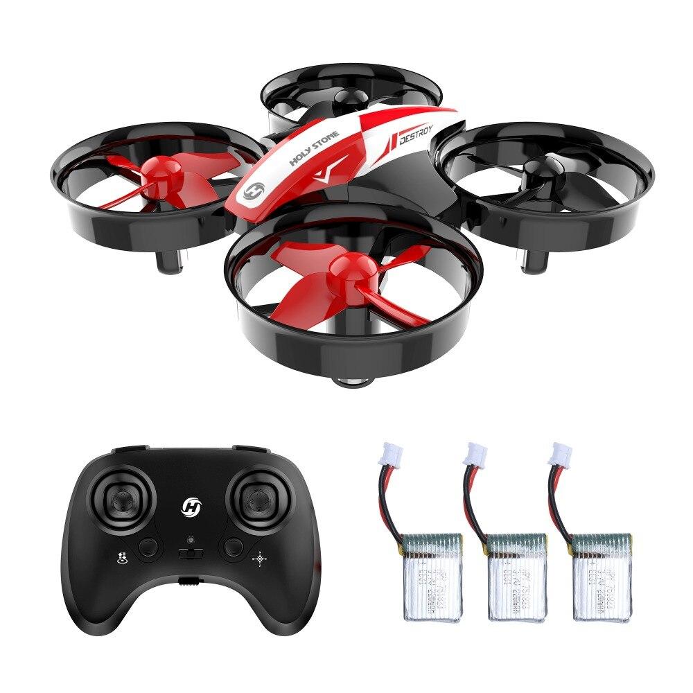 Heiligen Stein HS210 Mini RC Drone Quadcopters 3 pc 220 mAh Batterien Headless Modus Ein Schlüssel Rückkehr Auto Schwebt 3D flip VS JJRC H36