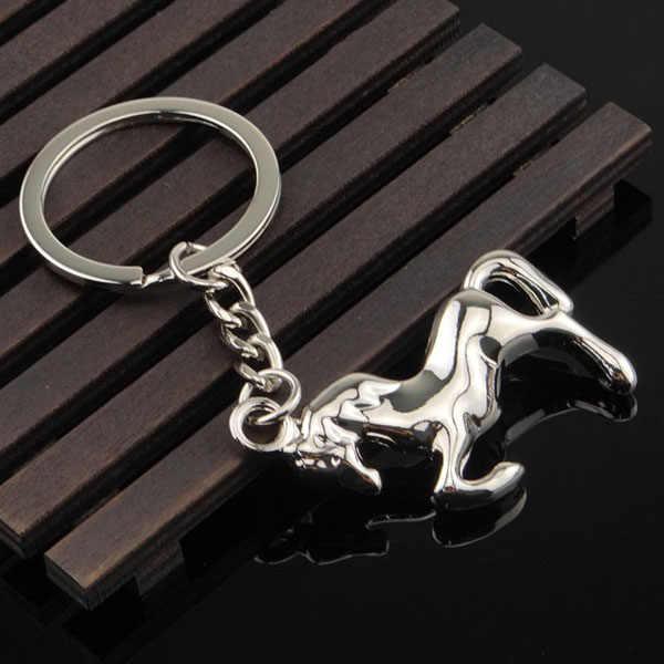 1 قطعة نيس ستيد الحصان الحيوان الحيوانات الأليفة المفاتيح كيرينغ المفاتيح الكلاسيكية ثلاثية الأبعاد حقيبة مفاتيح قلادة سلسلة الإبداعية هدية