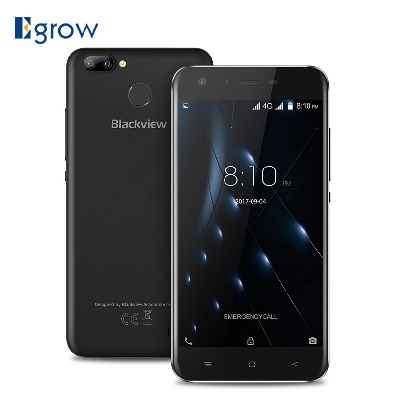 Blackview A7 Pro MTK6737 Quad Core Android 7.0 5.0HD 2GB+16GB Dual Rear Camera 8MP+0.3MP 2800mAh Mobile Phone 4G LTE Smartphone