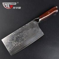 ญี่ปุ่นVG10ดามัสกัสมีดตัด7.2นิ้วสับมีดเชฟหั่นห้องครัวมีดcuchillos de cocinaจีนมีด